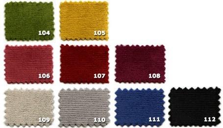 Colores de terciopelos para cortinas ignífugas